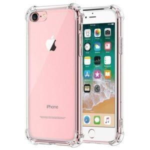 iPhone 7 transparente Hülle mit dicken Ecken von hinten